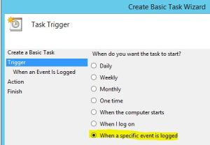 Task scheduler_event